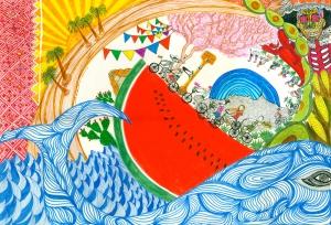 Dibujo Aran Josef en Mexico chiq